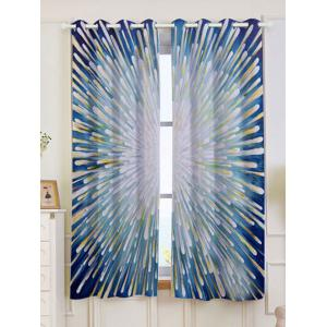 2 Panels Blackout Firework Print Window Curtains - Colorful - W53 Inch * L63 Inch