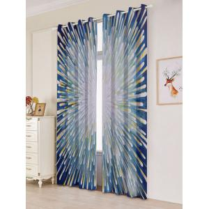 2 Panels Blackout Firework Print Window Curtains - COLORFUL W53 INCH * L84.5 INCH