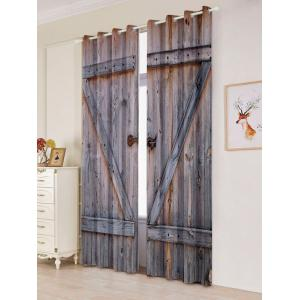 Woody Door 2 Panel Blackout Curtain Window Screen -