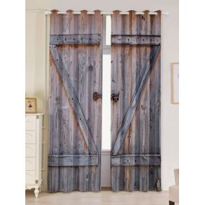 Woody Door 2 Panel Blackout Curtain Window Screen
