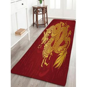 Flannel Skidproof Dragon Print Bath Mat