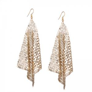 Alloy Statement Hook Drop Earrings