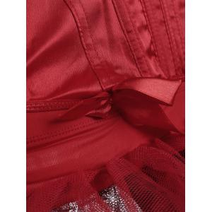 Lace Up Sweetheart Costume Corset - RED S
