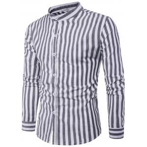 Long Sleeve Vintage Vertical Stripe Shirt