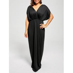 Plus Size  Maxi Plunge Evening Formal Dress