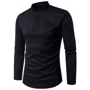 Long Sleeve Stand Collar Pullover Shirt