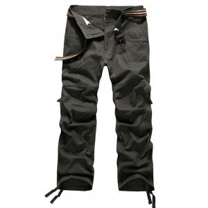 Straight Leg Zipper Fly Cargo Pants
