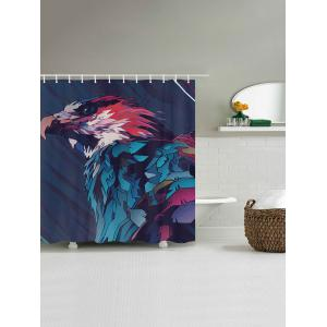 Eagle Painting Print Fabric Waterproof Bathroom Shower Curtain - COLORMIX W71 INCH * L79 INCH