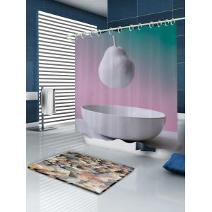 Hanging Pear Pattern Fabric Waterproof Bathroom Shower Curtain - COLORMIX W71 INCH * L79 INCH