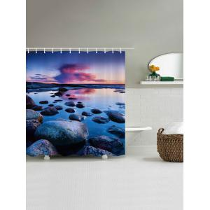 Sunset Stone Pattern Fabric Waterproof Bathroom Shower Curtain - COLORMIX W71 INCH * L79 INCH