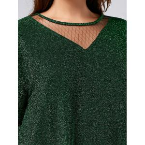 Sparkly Glitter Plus Size Top - GREEN 3XL