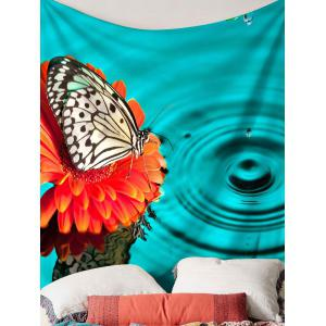Butterfly Water Print Tapis suspendu mural imperméable -