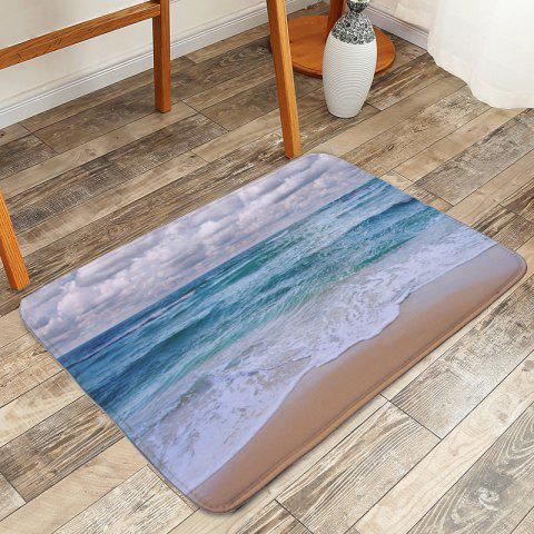 Best Beach Style Skidproof Area Rug - W16 INCH * L24 INCH LIGHT BLUE Mobile