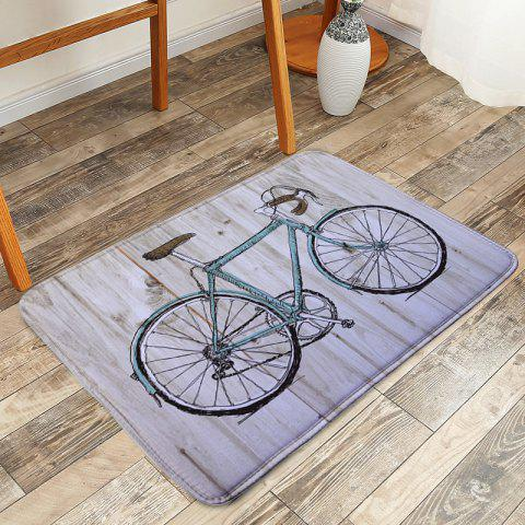 Shops Vintage Wood Grain Bicycle Printed Area Rug - W16 INCH * L24 INCH GRAY Mobile