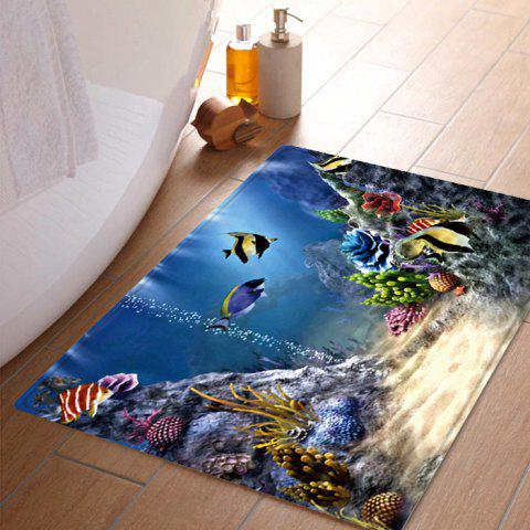 Trendy Underwater World Pattern Anti-skid Water Absorption Area Rug - W16 INCH * L24 INCH COLORMIX Mobile