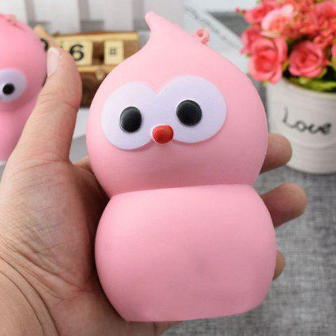 Affordable Lovely Simulation Gourd Slow Rising PU Squishy Toy PINK 14CM*7.5CM
