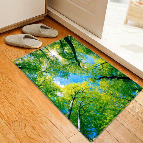 Unique Forest Sky Pattern Anti-skid Water Absorption Area Rug - W16 INCH * L24 INCH GREEN Mobile