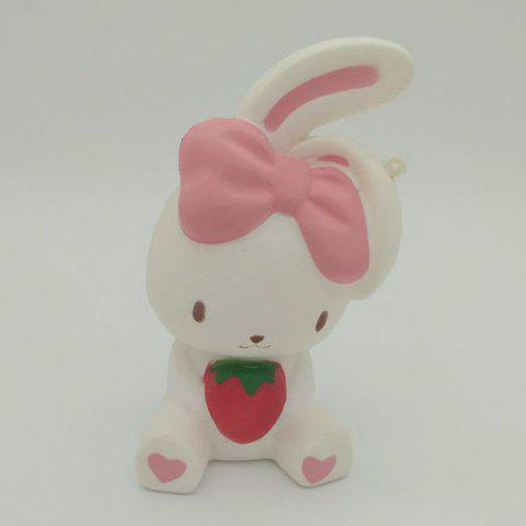 Trendy Slow Rising Squishy Rabbit Simulation Toy - WHITE  Mobile