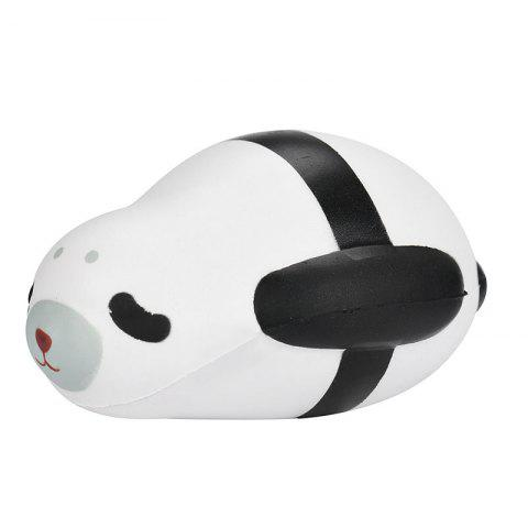 Simulation Toy PU Slow Rising Squishy Cute Seal Noir