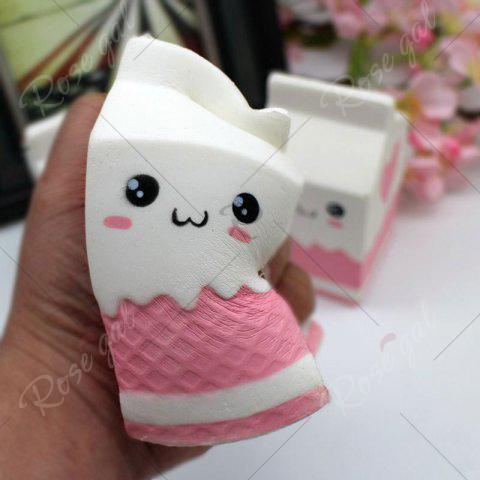 Unique Simulation Milk Box Stress Relief PU Squishy Toy - WHITE  Mobile