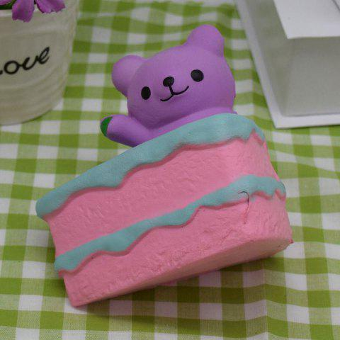 Outfit Simulation Cake Bear Slow Rebound PU Squishy Food - PURPLE  Mobile