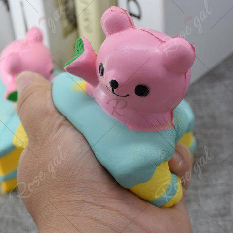 Outfit Simulation Cake Bear Slow Rebound PU Squishy Food - PINK  Mobile