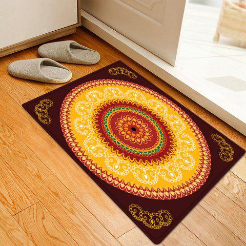 Buy Mandala Pattern Anti-skid Water Absorption Boho Area Rug - W16 INCH * L24 INCH COLORMIX Mobile
