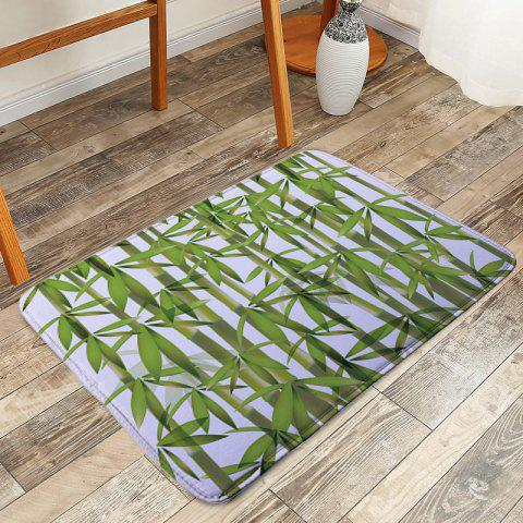 Fashion Door Entrance Bamboo Pattern Floor Mat - W16 INCH * L24 INCH GREEN Mobile