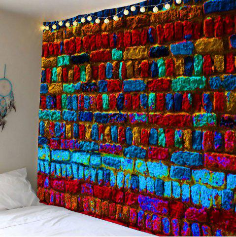 Best Home Decor Colorful Brick Print Wall Hanging Tapestry