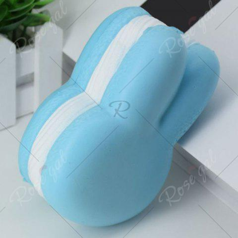 Outfit Simulation Macaron Rabbit Bread PU Squishy Toy - BLUE  Mobile