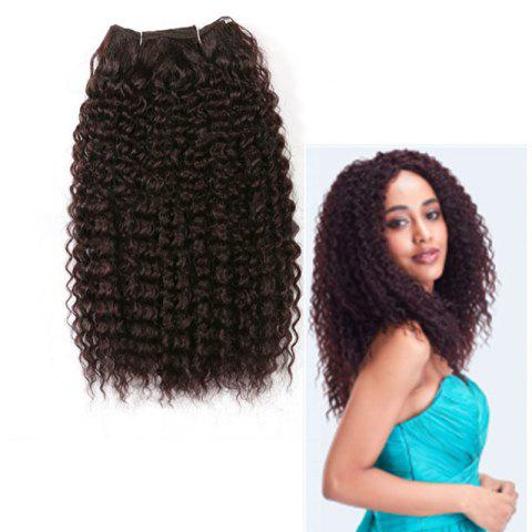 Fancy Medium Fluffy Deep Wave Synthetic Hair Weave DARK AUBURN BROWN
