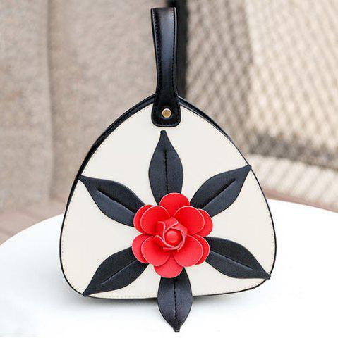 Affordable PU Leather Flower Handbag