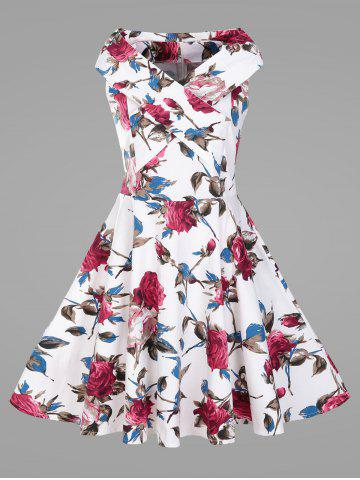 Best Sleeveless Plus Size Vintage Flower Dress