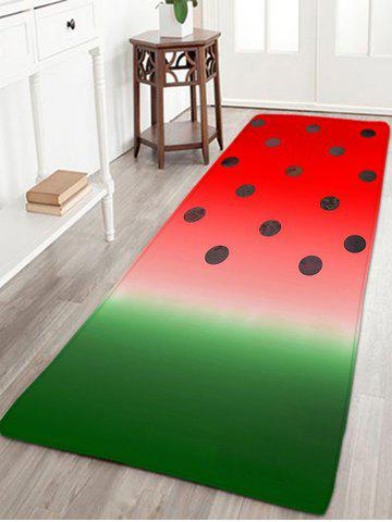Sale Bathroom Skidproof Watermelon Color Printed Rug - W16 INCH * L47 INCH WATERMELON RED Mobile