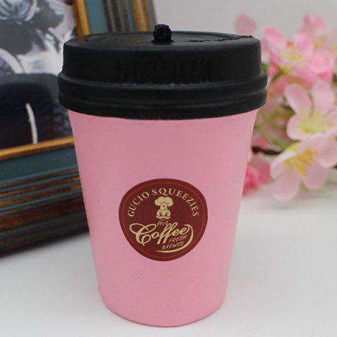 PU Simulation Coffee Cup Toy Squishy ROSE PÂLE