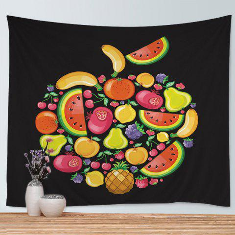Sale Wall Hanging Art Cartoon Fruits Print Tapestry - W59 INCH * L51 INCH COLORMIX Mobile