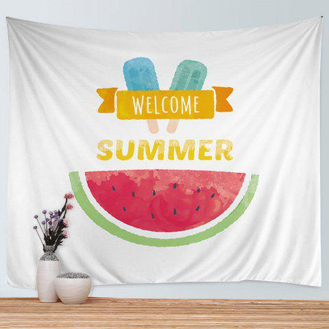 New Watermelon Ice Cream Print Tapestry Wall Hanging Art Decoration - W59 INCH * L51 INCH COLORMIX Mobile