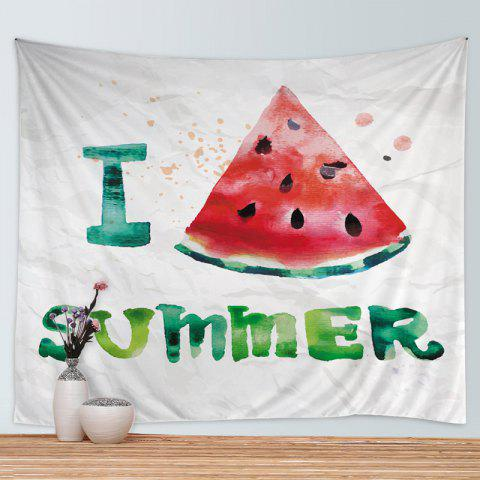 Chic Watermelon Summer Print Tapestry Wall Hanging Art Decoration - W59 INCH * L51 INCH COLORMIX Mobile