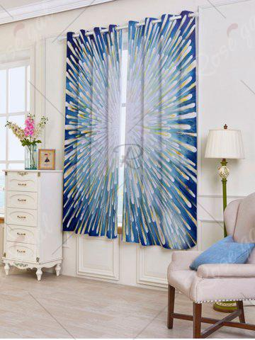 Fashion 2 Panels Blackout Firework Print Window Curtains - W53 INCH * L63 INCH COLORFUL Mobile