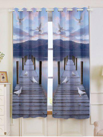 Sale 2 Panel Window Grommet Lake Scenic Blackout Curtain