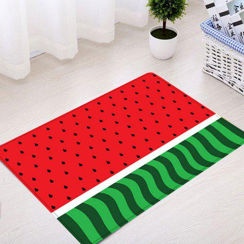 Shops Watermelon Pattern Anti-skid Water Absorption Area Rug - W16 INCH * L24 INCH RED Mobile