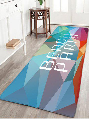 Buy BEACH PARTY Printed Flannel Antislip Rug - W16 INCH * L47 INCH COLORFUL GEOMETRIC Mobile