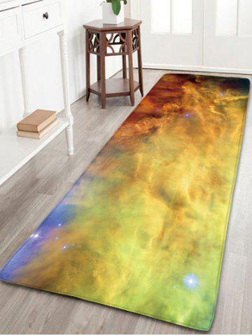 Fashion Flannel Antislip Milky Way Pattern Area Rug - W16 INCH * L47 INCH STARRY SKY PATTERN Mobile