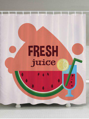 Outfits Watermelon Juice Pattern Fabric Waterproof Bathroom Shower Curtain COLORMIX W59 INCH * L71 INCH