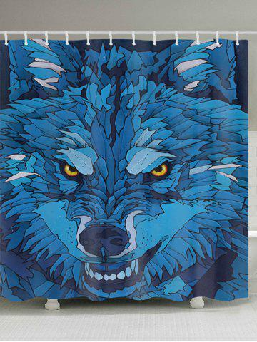 Affordable Cartoon Wolf Pattern Fabric Waterproof Bathroom Shower Curtain - W59 INCH * L71 INCH COLORMIX Mobile