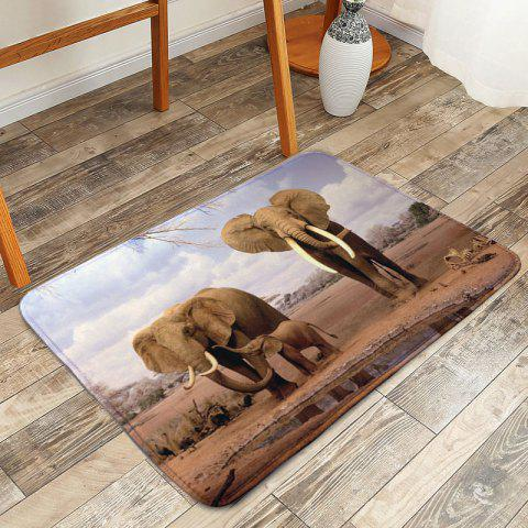 Fancy Soft Non-slip African Elephant Bathroom Rug - W16 INCH * L24 INCH COLORMIX Mobile