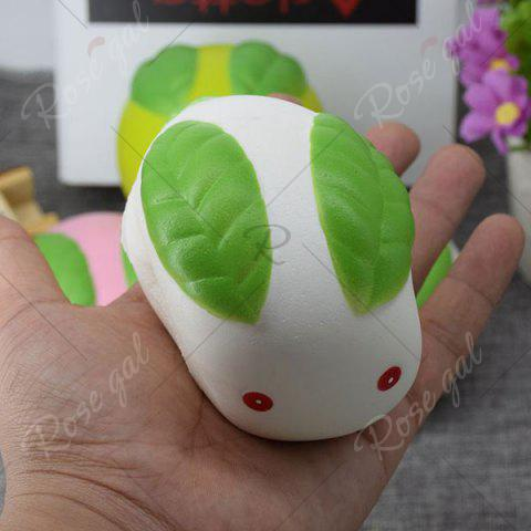 Shop Stress Relief Squishy Toy Simulation Steamed Bun - WHITE  Mobile