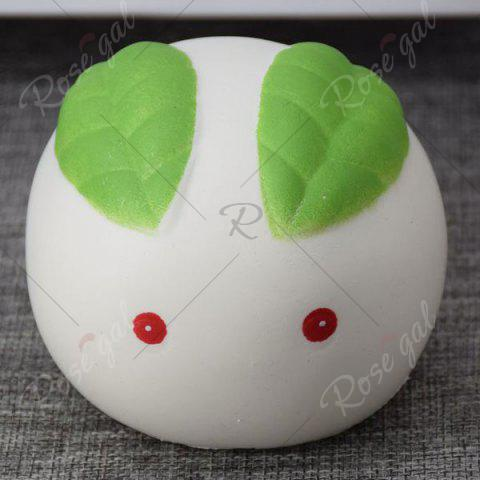 Cheap Stress Relief Squishy Toy Simulation Steamed Bun - WHITE  Mobile