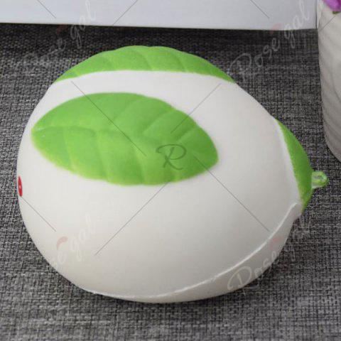 Fancy Stress Relief Squishy Toy Simulation Steamed Bun - WHITE  Mobile