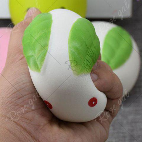 Trendy Stress Relief Squishy Toy Simulation Steamed Bun - WHITE  Mobile
